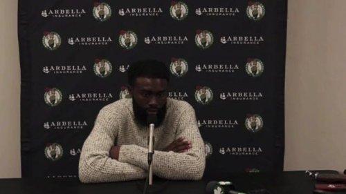 "Celtics star Jaylen Brown on playing 46 minutes vs the Knicks after just beating COVID: ""My breathing felt irregular."""