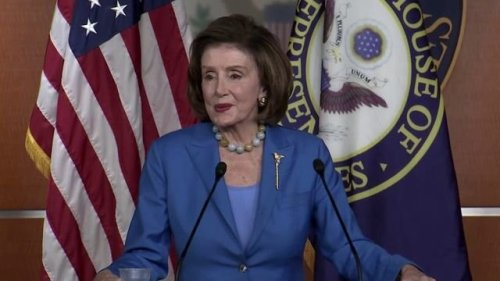 """House Speaker Pelosi said she told G20 leaders this weekend, """"America is back,"""" including on leading on climate issues."""