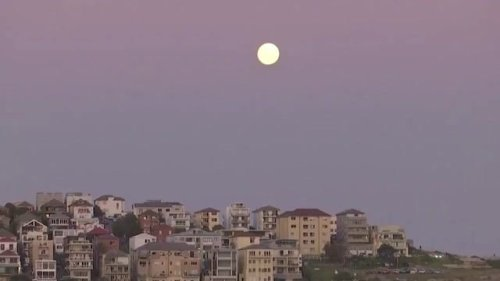 Reuters: The first supermoon of 2021 rises over Sydney's iconic Bondi Beach.