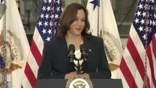 "VP Harris on American Jobs Plan: ""We are not going to take it one step at a time ... We are going to take a giant leap."""