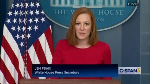 A reporter asks WH Press Sec. Psaki how Pres. Biden spends his weekends after recently being spotted playing golf.