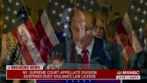 """Rudy Giuliani has his law license suspended in NY for communicating """"demonstrably false and misleading statements."""""""
