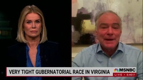 """Sen. Tim Kaine (D-VA) says hatred for Donald Trump is a """"unifier and a motivator for Virginia Democrats."""""""