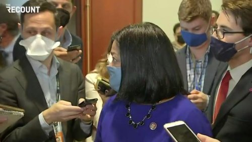 Asked about Manchin & Sinema, Rep. Jayapal (D-WA) says she trusts Biden has votes to pass Build Back Better in Senate.