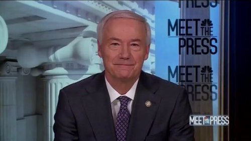 NBC's Chuck Todd shows Gov. Asa Hutchinson (R-AR), who opposes vaccine mandates, evidence that the mandates work.
