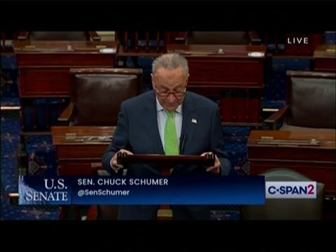 """Sen. Maj. Leader Schumer: """"The Senate will have confirmed more judges this week"""" than in Donald Trump's first 6 months."""