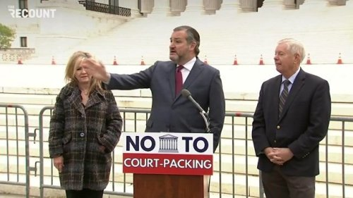 """Sen. Cruz (R) on Dems/court packing: """"You didn't see Republicans when we had control of the Senate try to rig the game."""""""