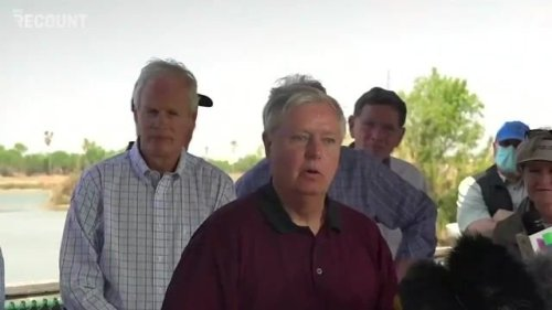 """Sen. Graham (R-SC) at border: """"Why are 18 senators here? ... it's the biggest issue facing the country in many ways ..."""""""
