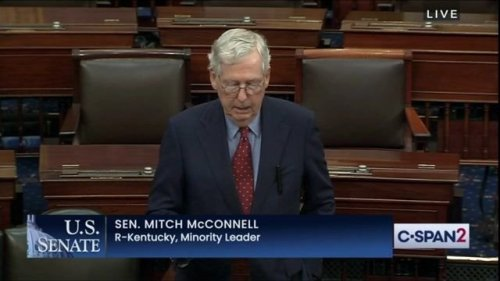 """Sen. Minority Leader McConnell (R-KY) announces that he received the COVID booster shot: """"It was an easy decision."""""""