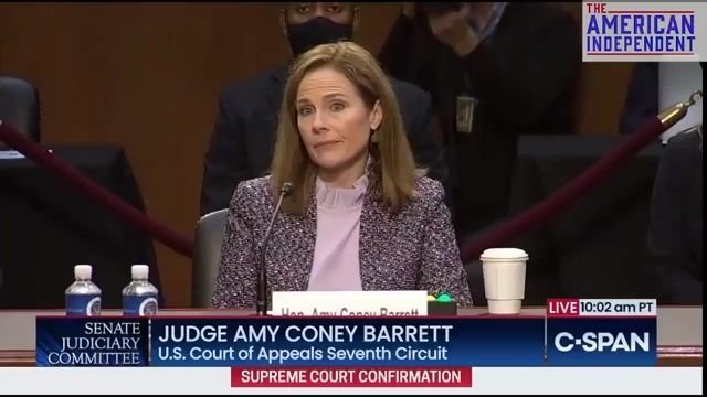 Judge Amy Coney Barrett struggles to name the five freedoms protected by the First Amendment of the Constitution.