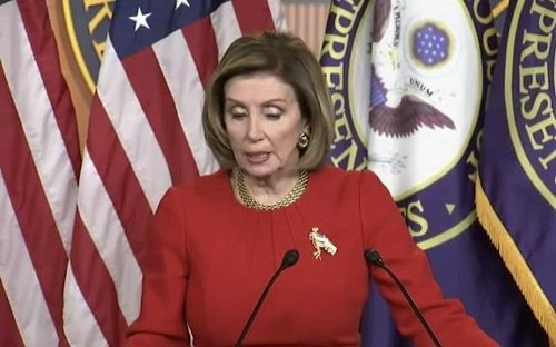 "Speaker Pelosi: Ethics Committee should ""probably"" look into Rep. Greene's (R-GA) ""verbal assault"" on Rep. AOC (D-NY)."