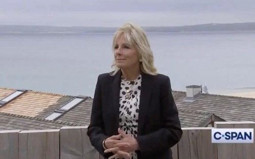 ICYMI, First Lady Dr. Jill Biden explains why she has the word 'LOVE' written on the back of her jacket.