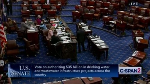 Senate passes the $35B water and infrastructure bill 89-2. GOP Senators Ted Cruz and Mike Lee voted against this bill.