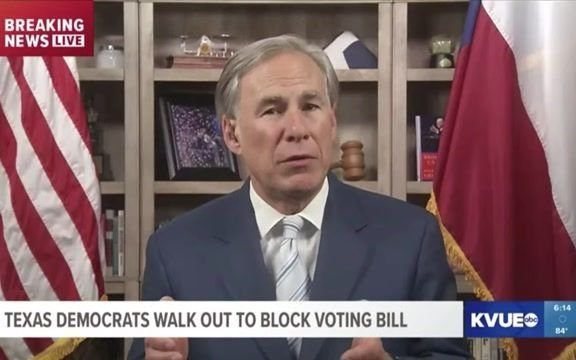 """Gov. Greg Abbott responds to TX Dems fleeing state to prevent voting restrictions from passing: """"They will be arrested."""""""
