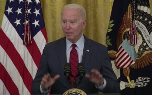 """""""Pay them more."""" — President Biden whispers in response to questions about worker shortages."""