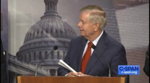 """Sen. Lindsey Graham (R-SC) on the Cybercrime Prevention bill: """"I now deem this infrastructure."""""""