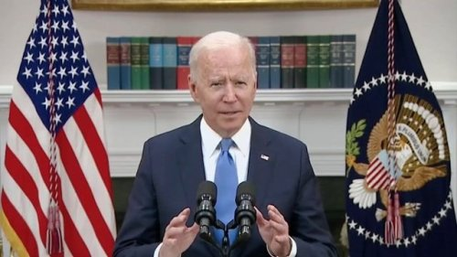 "Biden urges drivers to not panic and tells gas station's ""do not try to take advantage of consumers during this time."""