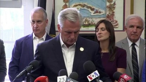 House Minority Leader Kevin McCarthy (R-CA) ignores question about why he opposes the January 6th Commission.