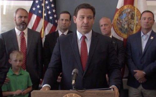 Gov. Ron Desantis (R-FL) on Transportation Department initially denying request for Pride Month rainbow bridge lighting.