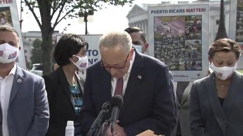 """Sen. Majority Leader Schumer says one of the main reasons for the worker shortage is """"how Trump cut back on immigrants."""""""