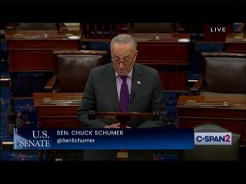 """Senate Majority Leader Schumer on warning signs of more QAnon violence: """"That is a shot across our bow."""""""