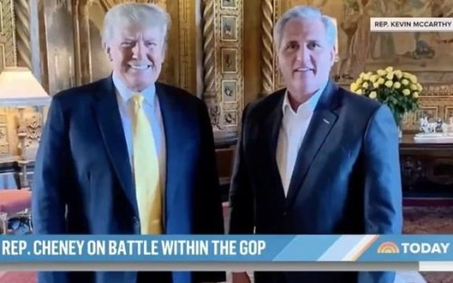 """In NBC exclusive, Rep. Liz Cheney (R-WY) says House Minority Leader Kevin McCarthy's trip to Mar-a-Lago was """"stunning."""""""