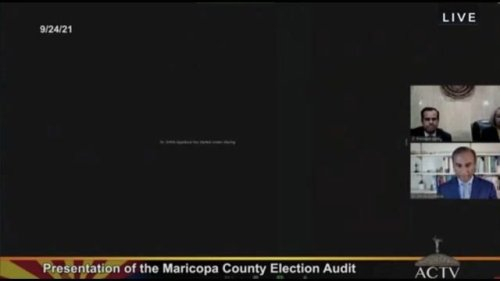 Arizona Republicans are struggling to show their 2020 election audit results (Biden won).
