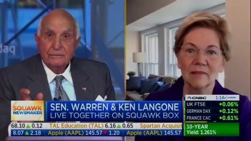 Sen. Elizabeth Warren (D-MA) calmly explains why we need a wealth tax to billionaire businessman Ken Langone.