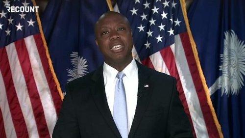 "Sen. Tim Scott (R-SC) in the GOP rebuttal to Biden's speech: ""America is not a racist country."""