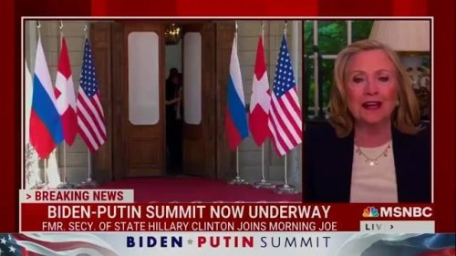 """Hillary Clinton: Biden must tell Putin that """"ridiculing,"""" """"undermining,"""" and """"attacking"""" the U.S. """"has to stop."""""""
