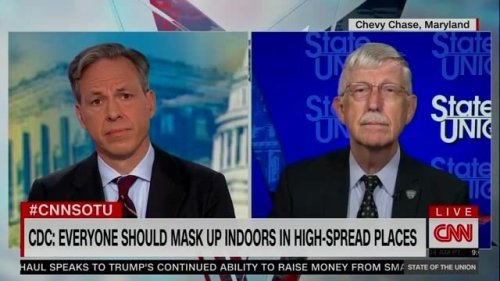 """NIH Director Dr. Francis Collins on wearing mask indoors: """"It's mostly about protecting the unvaccinated."""""""
