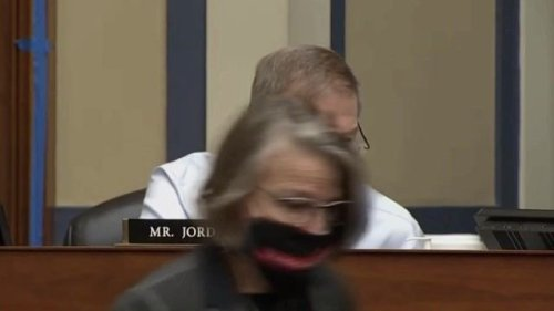 "Rep. Jim Jordan (R-OH): ""Are we gonna be here two years from now wearing masks …?"" Dr. Fauci: ""You're ranting again."""