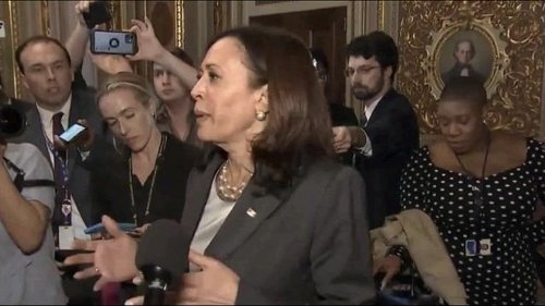 """VP Kamala Harris after Republicans blocked debate on the For the People Act: """"The fight is not over."""""""