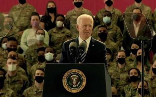"""Biden: U.S. """"will respond in a robust and meaningful way when the Russian government engages in harmful activities."""""""