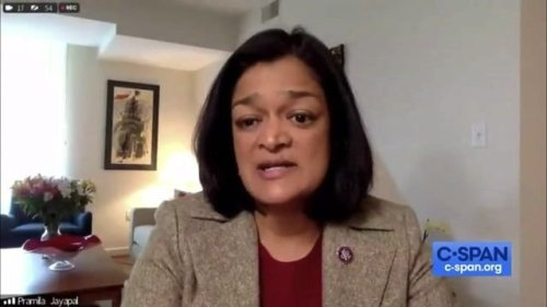 """Rep. Pramila Jayapal (D-WA) says one of the reasons workers aren't returning to work is because they """"don't feel safe."""""""