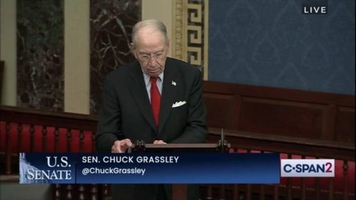 """Sen. Chuck Grassley (R-IA): """"No one should ever threaten someone with violence ... about some school policy."""""""