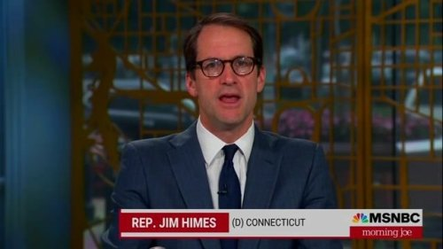 """Rep. Jim Himes (D-CT) says it was painful to watch colleagues """"promote the lie that had led to that violence."""""""