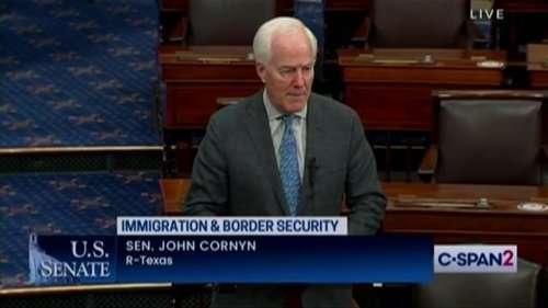 """Sen. Cornyn (R-TX) introduces the """"Bipartisan Border Solutions Act"""" to address influx of migrants crossing the border."""
