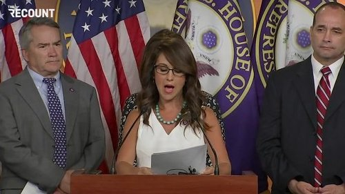 """Today in Bad Faith: Rep. Boebert (R-CO) says she's filing a bill to censure Biden for """"dereliction of duty"""" on border."""