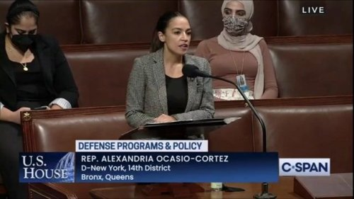 """Rep. AOC: """"Despite all of this rhetoric about the deficit ... for some reason our defense budget seems to be exempt."""""""