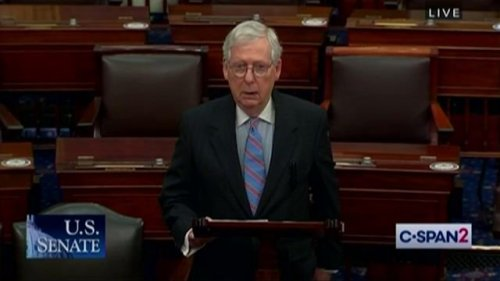 "Sen. McConnell (R-KY) on Biden/Afghanistan: ""Precipitously withdrawing U.S. forces from Afghanistan is a grave mistake."""