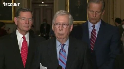"""Sen. Minority Leader Mitch McConnell complains about Dem spending plans: """"We rescued the country last year ..."""""""