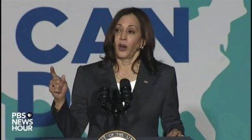 """VP Harris: """"Virtually every person who is in the hospital right now sick with COVID-19 ... is unvaccinated."""""""