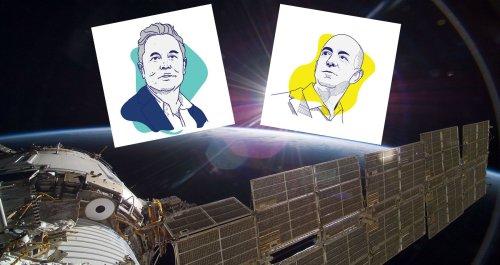 Battle of the Billionaires: The Clash Between Elon Musk & Jeff Bezos Over NASA
