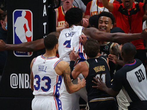Embiid fined for altercation with Collins, Hawks' Fernando suspended
