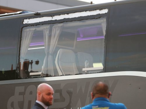 Real Madrid bus window smashed on way to Liverpool match