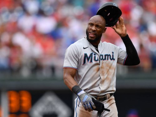 Report: Marlins' Marte, Harrison involved in clubhouse incident