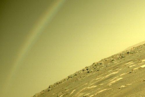 Bizarre photo of a 'rainbow' on Mars baffles internet as Nasa reveals truth
