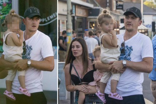 Man Utd captain Maguire enjoys Devon staycation with fiancee Fern Hawkins & kids