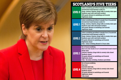 Everything you need to know as Scots Gov reveals new Covid lockdown tier system